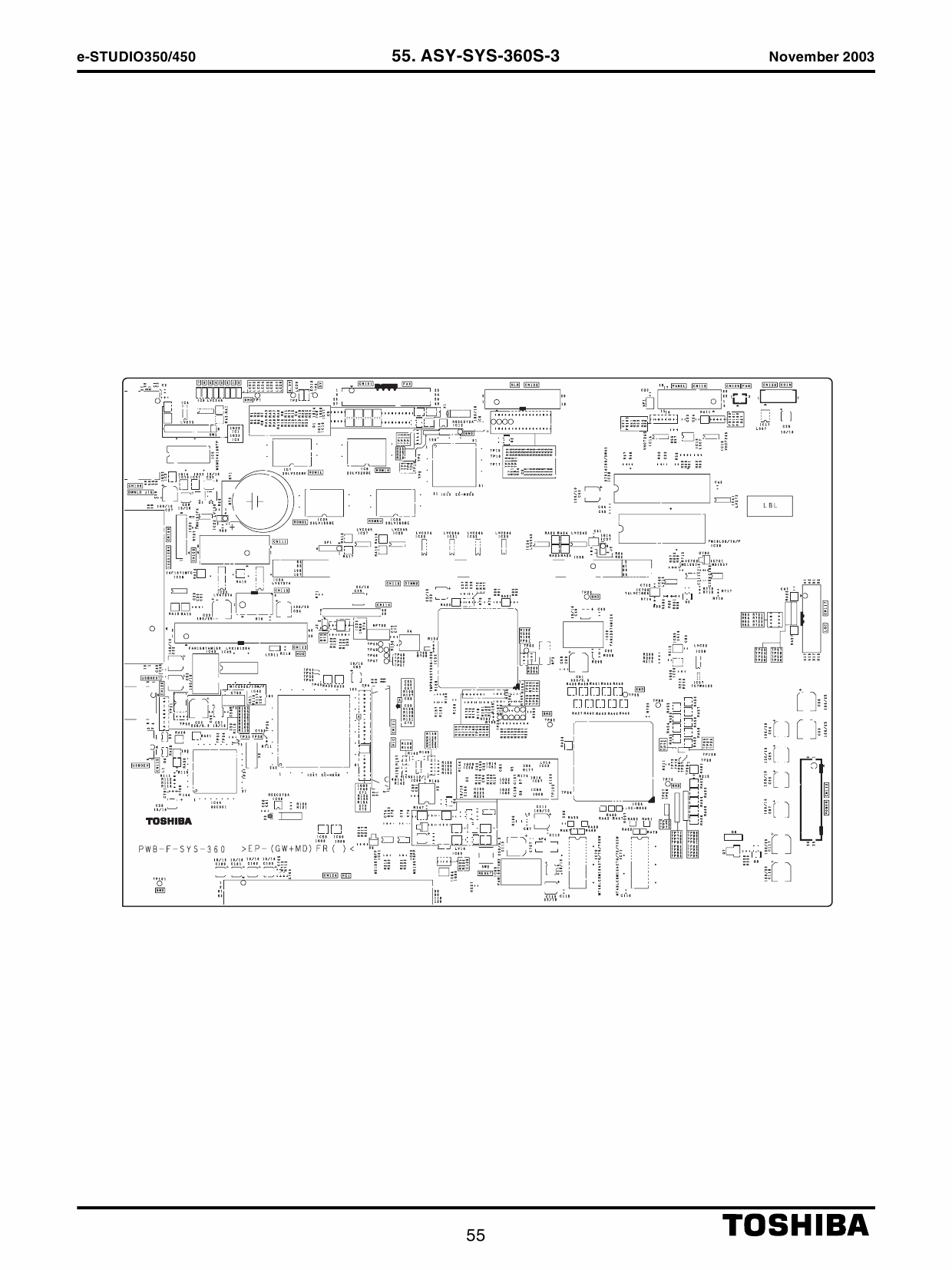 TOSHIBA e-STUDIO 350 450 Parts List Manual